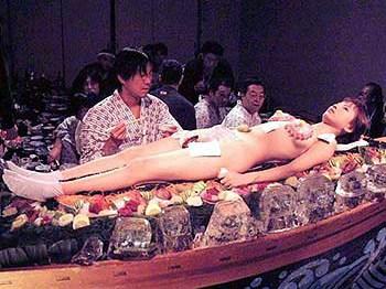 日本女体盛