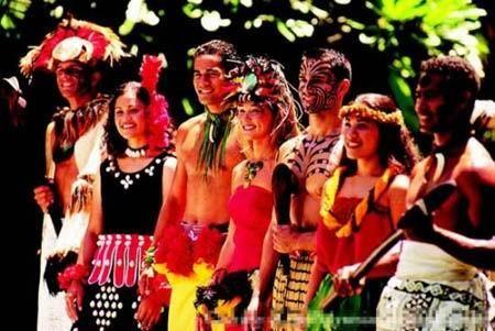 萨摩亚群岛混血美女无数