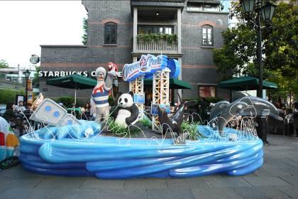 原来是香港海洋公园,可爱的威威师令带领着一群动物大使,还有海洋