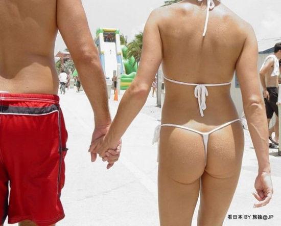 日本海边t字裤泛滥成灾图