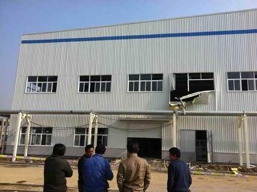 合肥昌河汽车新基地一厂区发生爆炸高清图片