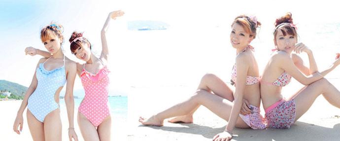 嫩模海滩清凉比基尼 提前领略夏日风情