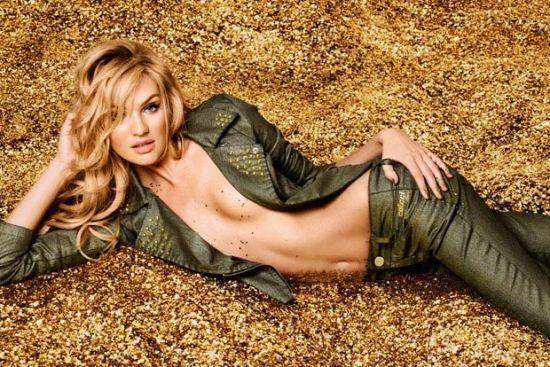 超模坎蒂丝・斯瓦内普尔 半裸演绎金粉女郎