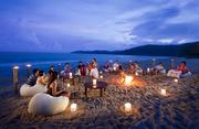 Beach social party