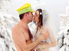 全球别出心裁的旅行婚礼零下30度的比基尼婚礼