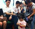 地铁2号线有人乞讨