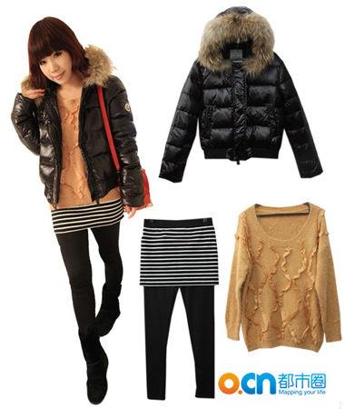 冬季女士服装搭配 冬天也要各种时尚抢镜