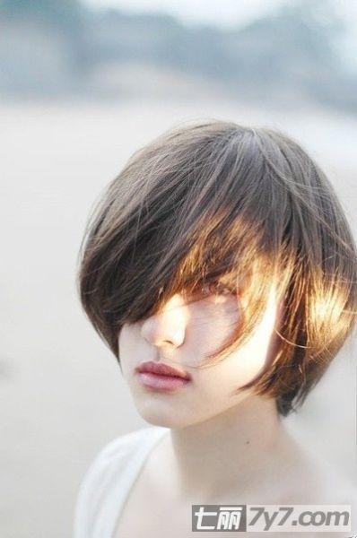 瘦脸发型 2013潮妹女生瘦脸短发发型 (5)