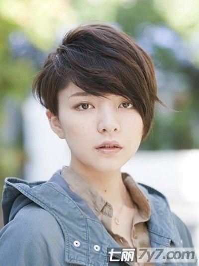 2013潮妹女生瘦脸短发发型