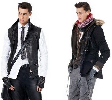 男孩冬天衣服搭配 冬天男生服饰搭配 不做古董怪蜀黍 高清图片