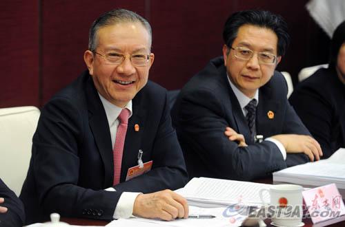 刘云耕参加静安区代表团审议