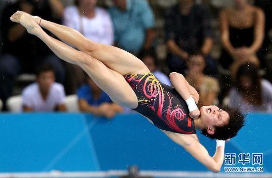 女子十米跳台:陈若琳夺冠