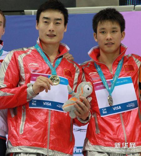 跳水世界杯:秦凯/罗玉通双人三米板夺冠