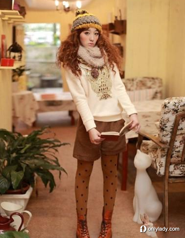 今年冬季流行的服饰 高清图片