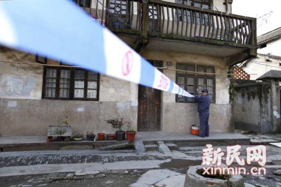 事发2月19日19时许,据称,死亡女子租住于此。新民网 萧君玮 现场拍摄