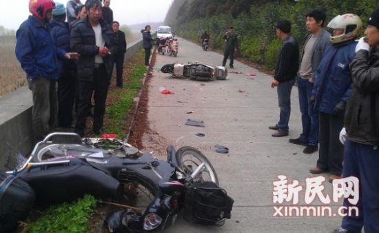 崇明发生一起交通事故致一死一伤。通讯员供图