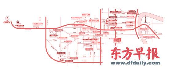 张国荣上海路线图