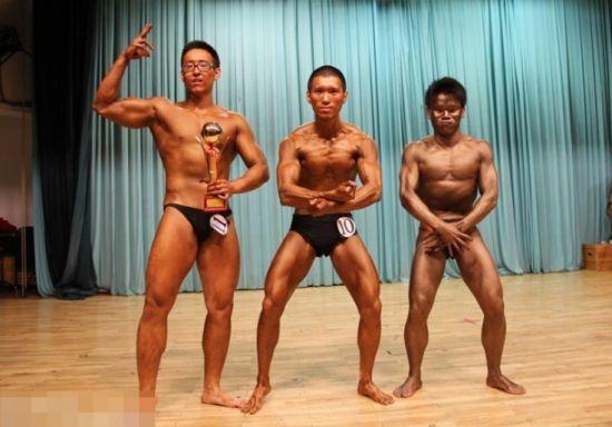 学霸肌肉男 清华大学男生健美大赛图片