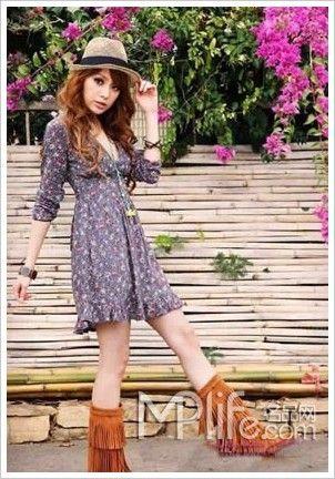 胖女孩夏季服装搭配 修身清凉美丽时尚图片