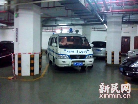 救护车在现场 来源:新民晚报