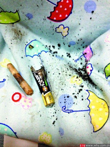 爆炸的电池。网友图