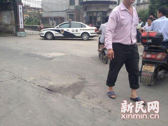 位于宝山月罗路的上海广裕精细化学有限公司。新民网李若楠 现场回传