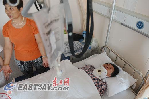 """""""爱心老爷爷""""王先生被送至交通大学医学院附属第三人民医院进行救治。"""