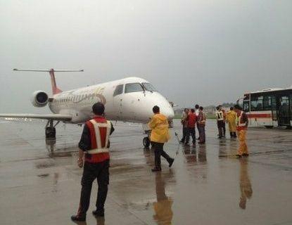 这架ox833航班从中国贵阳起飞,飞往泰国南部普吉岛,由于天气原因无法
