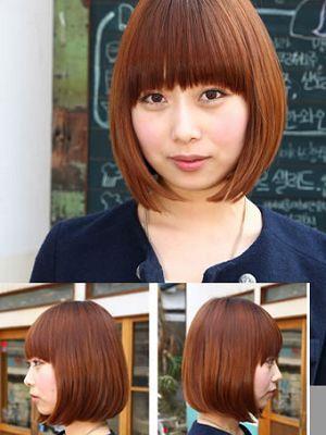 适合胖女孩的发型 微蓬BOB头