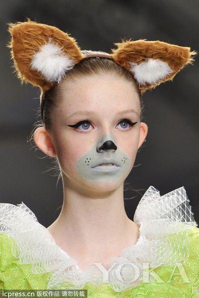 儿童可爱动物妆容