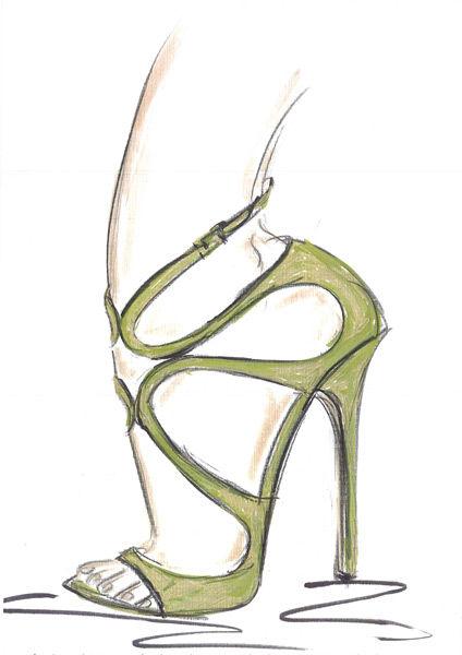 创意鞋子设计图手稿