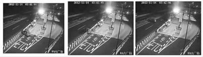 监控摄像头记录下了张某破坏隔离栏违规驾车的过程/监控画面截屏
