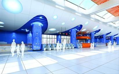 """迪士尼车站装饰创意设计方案2""""属于你的梦幻之旅""""效果图"""