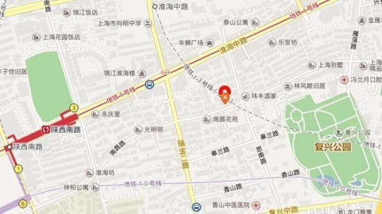 红标处为事发地大概地理位置。