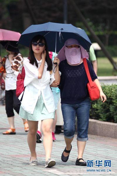 上海迎来高温天气
