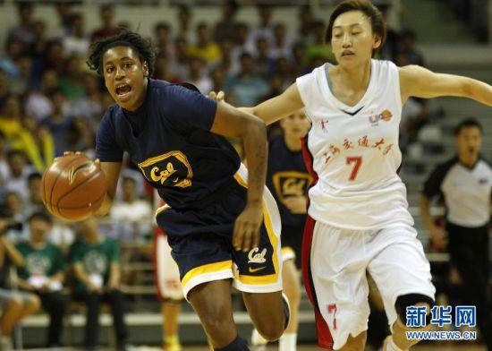 中美大学生女篮友谊赛在沪举行