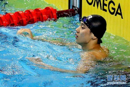 解放军选手宁泽涛打破男子50米自由泳亚洲纪录