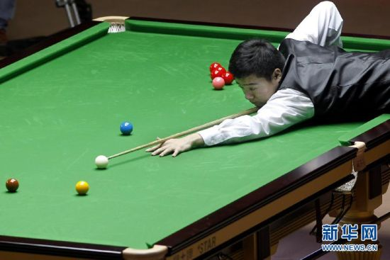 上海大师赛:丁俊晖对阵罗伯逊