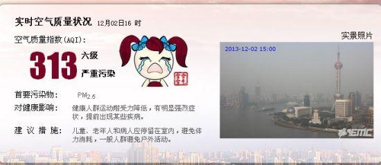 上海实时空气质量