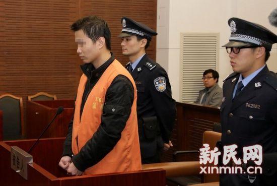 被告人出庭。图片来源:上海一中院供图