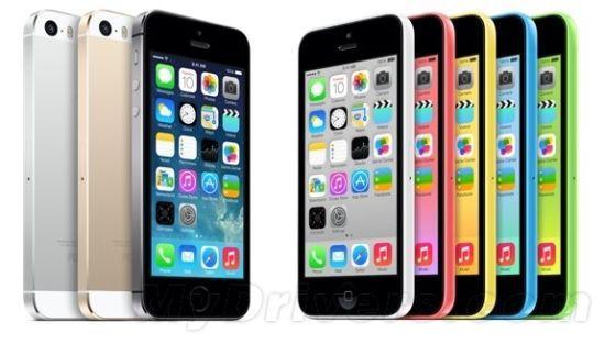 iPhone 5S和iPhone 5C手机