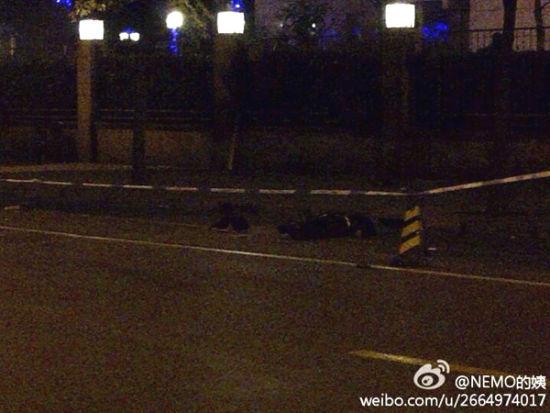 2名保安在小区门口被撞死