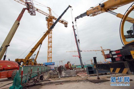 上海迪斯尼度假区启动主题乐园地上建设施工