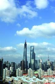 """""""迎财神""""后,上海并未出现雾霾天,相反,昨日早上全市空气质量良好,蓝天白云露脸。 /IC"""