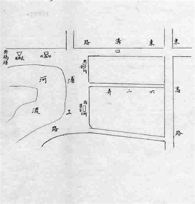上海浦东旧地图标示慰安所