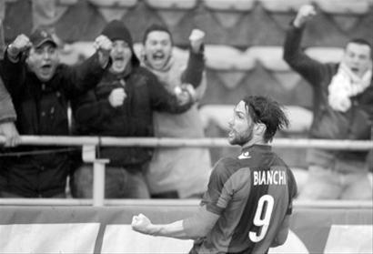 □比安奇上周末刚刚在博洛尼亚和AC米兰的意甲比赛中出场/CFP