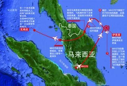"""马航失联客机走了一个 """"奇怪航线"""",被认为是躲避民用雷达。 制图/黄欣"""