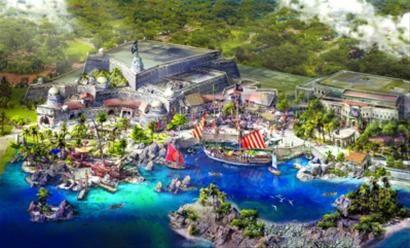 """□上海迪士尼乐园将呈现全球迪士尼乐园中首个以海盗为主题的园区,名为""""宝藏湾""""。 /效果图"""