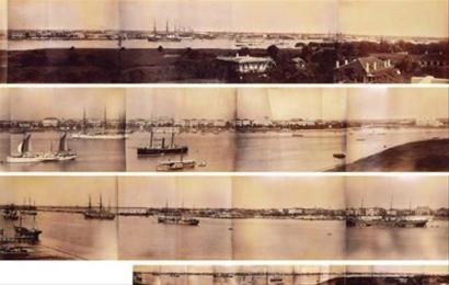 1880年代上海公泰照相馆所摄外滩