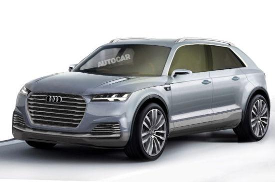全新奥迪Q8(2017年上市)-大众集团豪华SUV发展计划曝光 途锐 奥迪Q高清图片